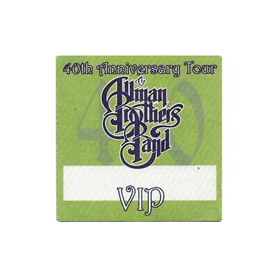 Allman Brothers VIP 2009 concert tour band Backstage Pass Gregg Allman