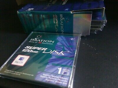 "IMATION SUPER DISK  Lot of 5   4-new 1-used 120MB 3 1/2"" FLOPPY DISKETTES MAC OS"