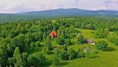 5 Bed Scandinavian Style Eco Lodge with 2 Acres, Pond, Meadows, Views & Income