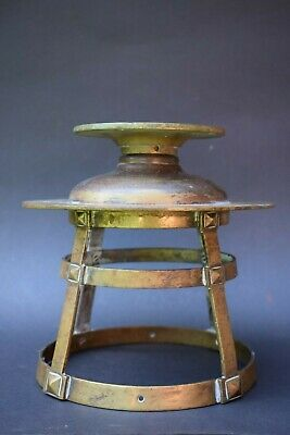 Vintage Brass Ships Lantern porch lamp light old lighting garden lamp reclaimed