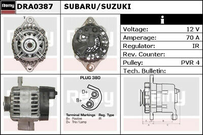 Alternator fits SUBARU JUSTY G3X 1.5 2003 on M15A Remy Top Quality Replacement