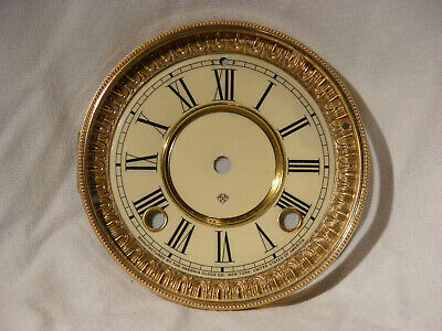 Antique Ansonia Shelf Clock Dial And Beveled Glass Bezel