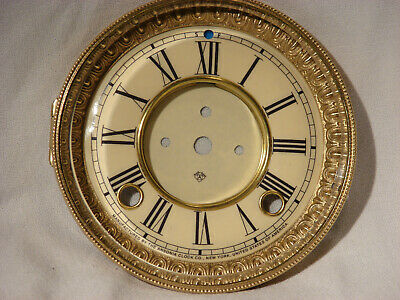 Antique Ansonia Clock Open Escapement Dial with Beveled Glass Bezel