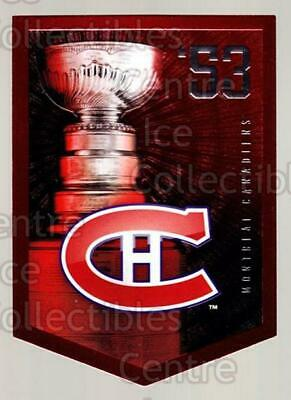 2011-12 Panini Molson Coors Stanley Cup Champions #1953 Montreal Canadiens