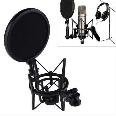 Audio Professional Condenser Microphone Studio Sound Recording W/ Shock Mount BE