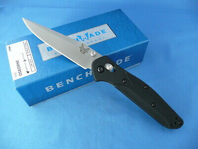 Benchmade 943 Osborne Axis Lock Knife Black Handle S30V Plain Edge Clip Point