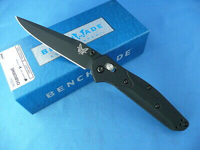 Benchmade 943BK Osborne Axis Lock Knife Black Coated S30V Plain Edge Clip Point