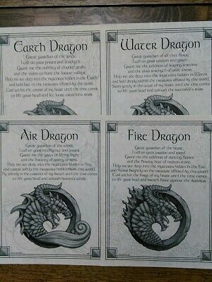 Air Dragon Poster Wicca Pagan Witch Witchcraft Goth Punk
