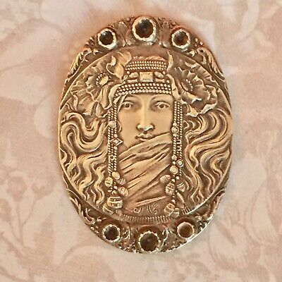 RARE!!*STUNNING! Vintage Egyptian Goddess Stampings(1 PC)Made In PARIS FRANCE