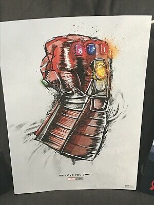 Marvel Avengers Endgame Rerelease Exclusive AMC Love You 3000 Poster
