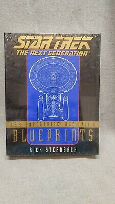 MIB Star Trek The Next Generation USS Enterprise NCC-1701-D Blueprints Sternbach