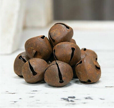 Jingle Bells Rusty Metal Country Primitive Craft Supplies 30 mm/1 inch Set of 24