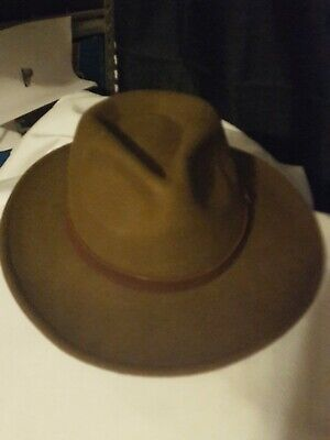 3727ab981588ae Henschel U Shape It Wool Felt Outback Hat Band Feather Size large Light  Brown