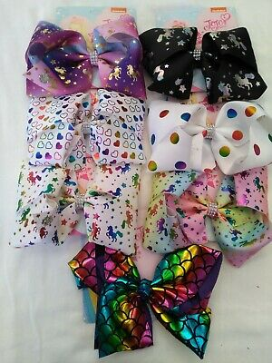JoJo Siwa Bows, 8inch, various up-to-date designs - brand new in Australia
