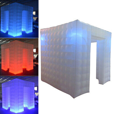 Inflatable Cube Photo Booth Air Tent 2.25M Photobooth w/LED Lights and Blower US