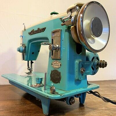 Vintage Antique Brother CAVALIER Precision SEWING MACHINE Turquoise JAPAN