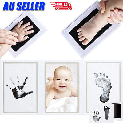 Baby Handprint Footprint Photo Frame Kit Safe Inkless Newborn Keepsake Souvenir
