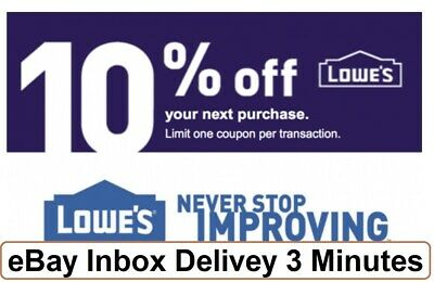 Two 2x Lowes 10% OFF2Coupons-InStore and Online-Very--FAST-3mins-SENT-------