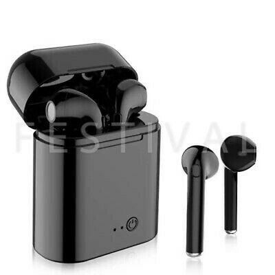 Black Wireless Bluetooth Earpods Compatible with IOS and Android Devices