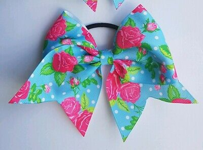 1x Girls Medium Hair Bow Cheer Dance Cheerleader Cheerleading galaxy universe