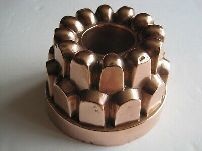Antique Victorian Copper 3 Tiered Jelly Mould With Pipe