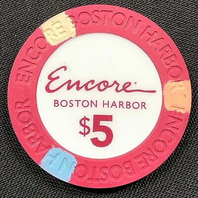 New $5 Encore Boston Harbor Casino Grand Opening Gaming Poker Chips Paulson