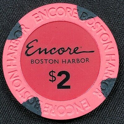 New Rare $2 pink Encore Boston Harbor Casino Grand Opening Gaming Poker Chips