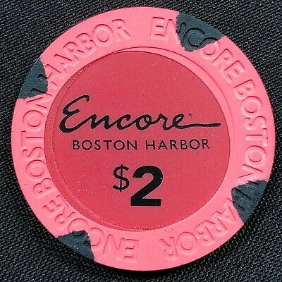 Very Rare misprint $2 pink Encore Boston Harbor Casino Grand Opening Poker Chips