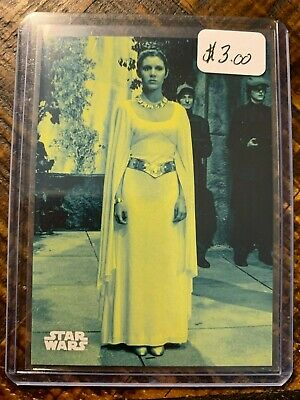 2018 Topps Star Wars A New Hope:Black & White Blue Parallel Card #139