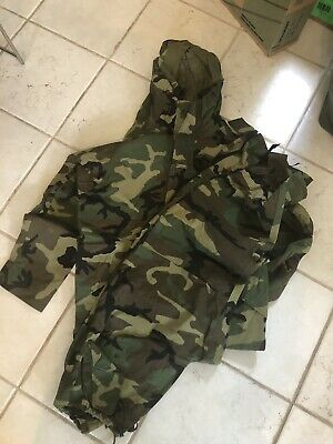 a531d3d73d7b1 USMilitary MED REG goretex Parka woodland Camouflage jacket With Trousers  SET