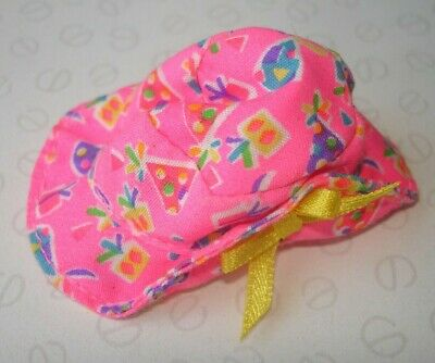 Genuine Barbie Shelly Kelly Doll Accessories - Pink Party Present Motif Hat