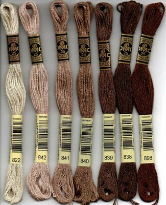 New DMC Floss Forrest Browns 7 Skeins - Free Shipping!!