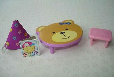 Barbie Shelly Kelly Doll Accessories - Teddy Bear Table, Chair, Book & Hat
