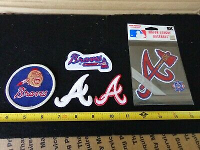 Vintage Atlanta Braves Patches  5 Pc. Lot  Old School Logos  Free Shipping  #3
