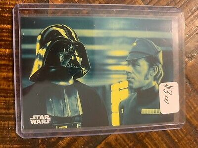 2018 Topps Star Wars A New Hope:Black & White Blue Parallel Card #128