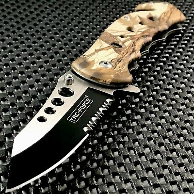 """TAC FORCE HUNTING TACTICAL CAMO SPRING ASSISTED OPEN FOLDING Pocket Knife 8.75"""""""