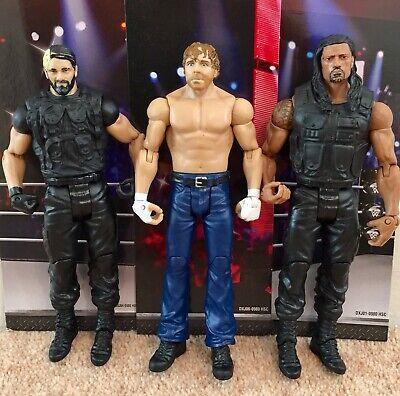 WWE Mattel action figure BASIC SETH ROLLINS DEAN AMBROSE R REIGNS toy Wrestling
