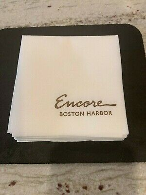 The New Encore Casino-@ Boston Harbor Cocktail Napkins-Opening Nite New- 15 Pack