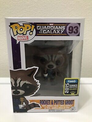 Funko Pop Marvel Guardians of the Galaxy 93 Rocket & Potted Groot Exclusive
