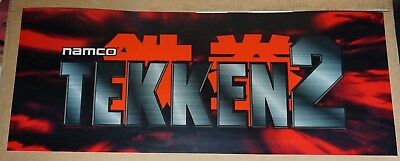 TAKKEN 2 Arcade Game Marquee Header Original Not a Repo Excellent Condition