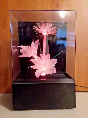 Vintage Multi-Color Fiber Optic Flower Lamp Light Music Box-TESTED AND WORKING