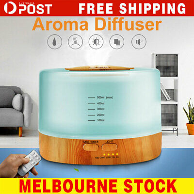 Ultrasonic 500 ml Aroma Diffuser Aromatherapy LED Essential Oil Air Humidifier