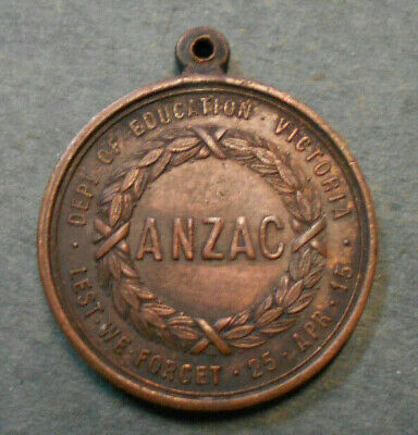 #D247.  1916  Department Of Education  Victoria  Anzac Medal