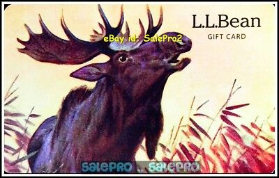 L.l. Bean Usa Clothing Forever Reindeer Moose Rare Colectible Gift Card