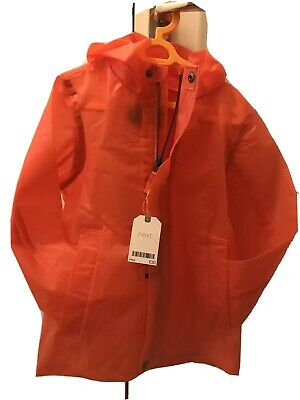 Next Lightweight Rain Coat Shower Resistant Orange NEW With Tags Age 4-5