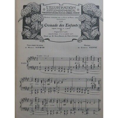 L'illustration Supplément Musical Piano Chant Piano solo 1905 - 1906 partition s