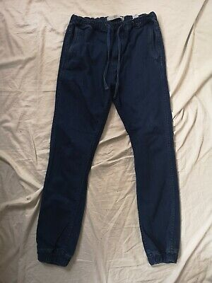 Topman Top Man JOGGER relaxed Denim Jeans Small S W30 W32 D Blue Used Vgc