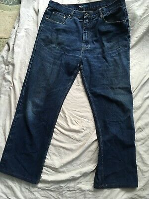 SMITH & JONES 40/32 D Blue Straight Leg Zip Fly Jeans Quality Denim Used VGC