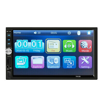 7inch DOUBLE 2DIN Car MP5 Player BT Tou+ch Screen Stereo Radio HD+Camera New