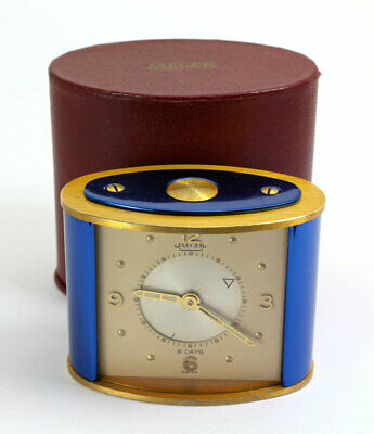 8 Tage  JAEGER LeCOULTRE REISEWECKER / TRAVEL ALARM CLOCK Cal. 219 mit orig. Box
